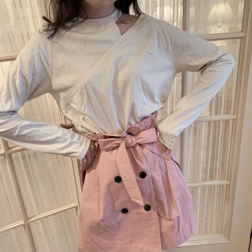 【SSC atelier】trench skirt (pink)