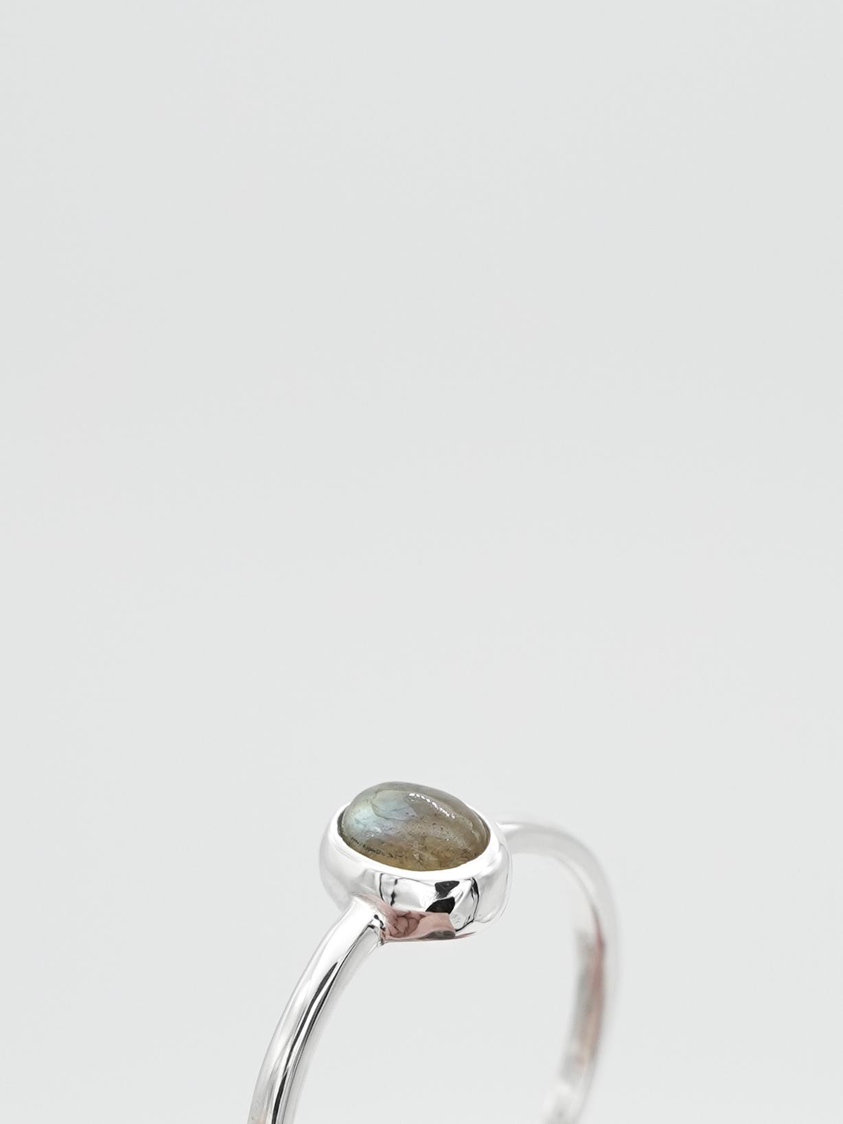 <4/18 新色発売>classic gem ring -labradorite-
