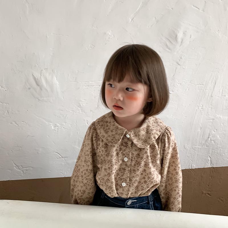 【即納】小花柄ブラウス AW 秋冬 韓国子供服