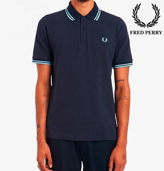 フレッドペリー ポロシャツ メンズ THE FRED PERRY SHIRT M12 NAVY / ICE / ICE