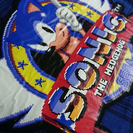 SONIC THE HEDGEHOG プラッド ロングシャツコート / GAMES GLORIOUS