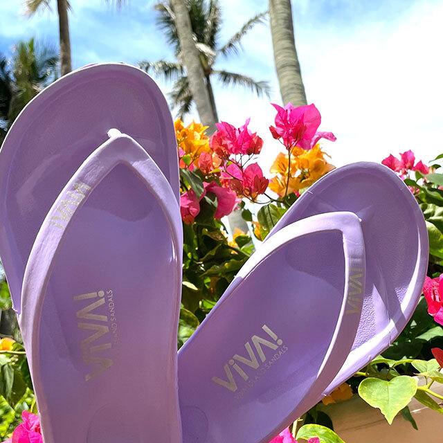 VIVA! ISLAND|ビバアイランド FLIP FLOP ビーチサンダル(ラベンダー|V-810110_LAV)