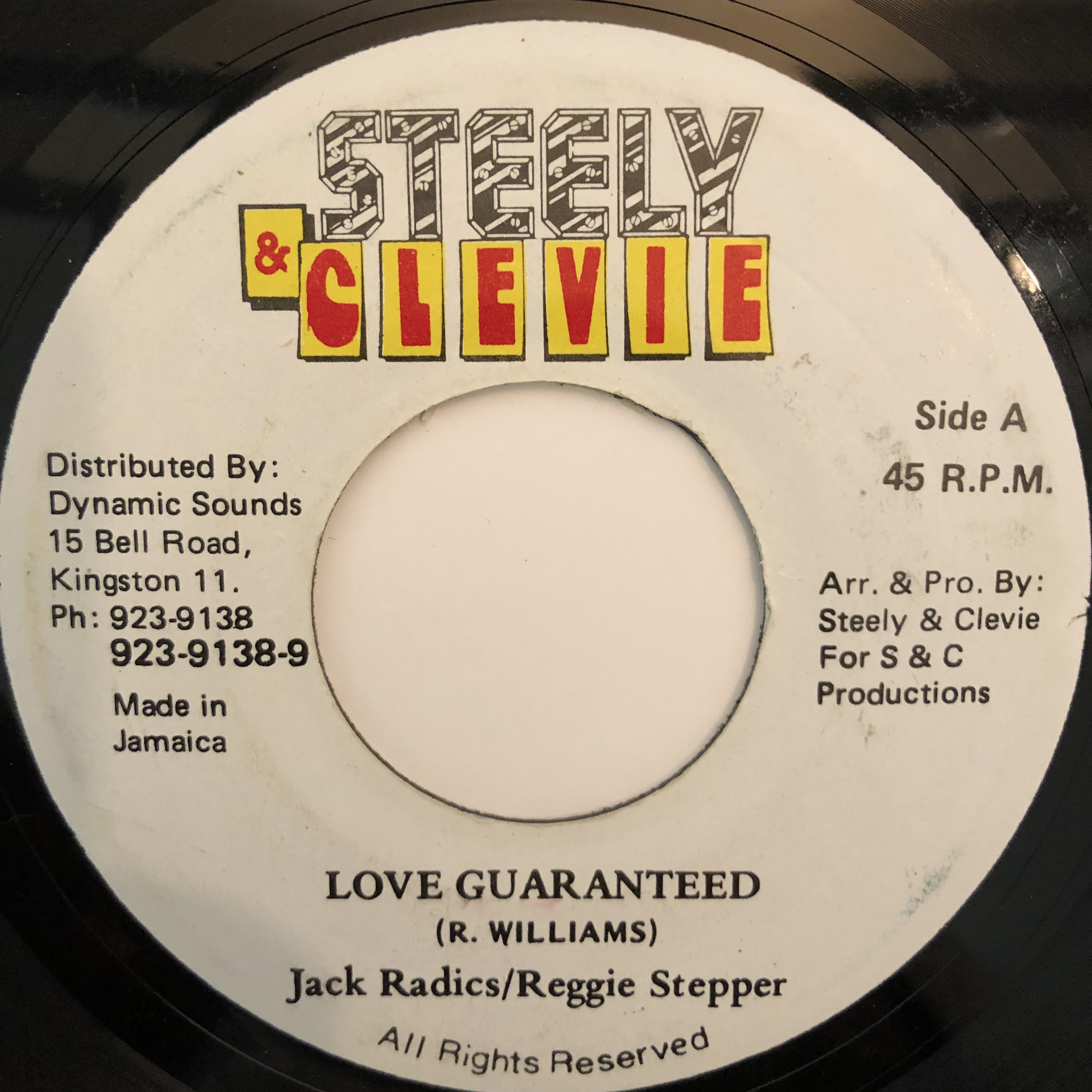 Jack Radics, Reggie Stepper - Love Guaranteed【7-20315】