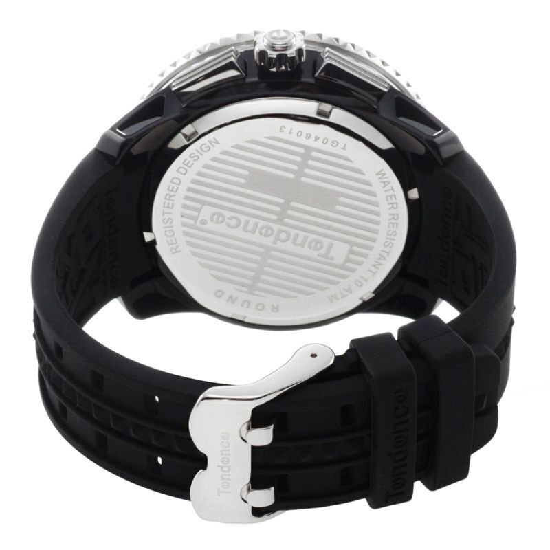 【Tendence テンデンス】TG046013 GULLIVERガリバー(ブラック×シルバー)/国内正規品 腕時計