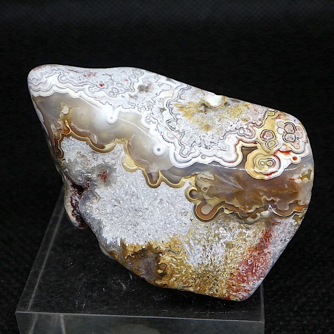 メキシコ クレイジーレース アゲート 46,7g AG137  鉱物 原石 天然石 パワーストーン