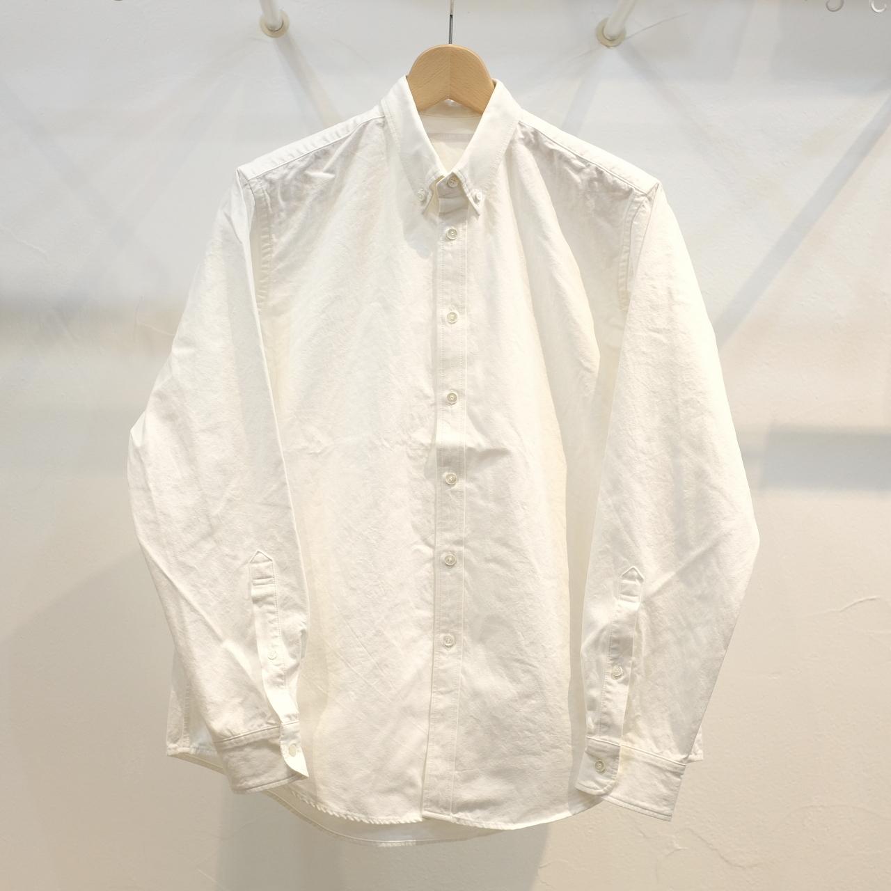 HATSKI(ハツキ) ハイカウントボタンダウンシャツ ホワイト