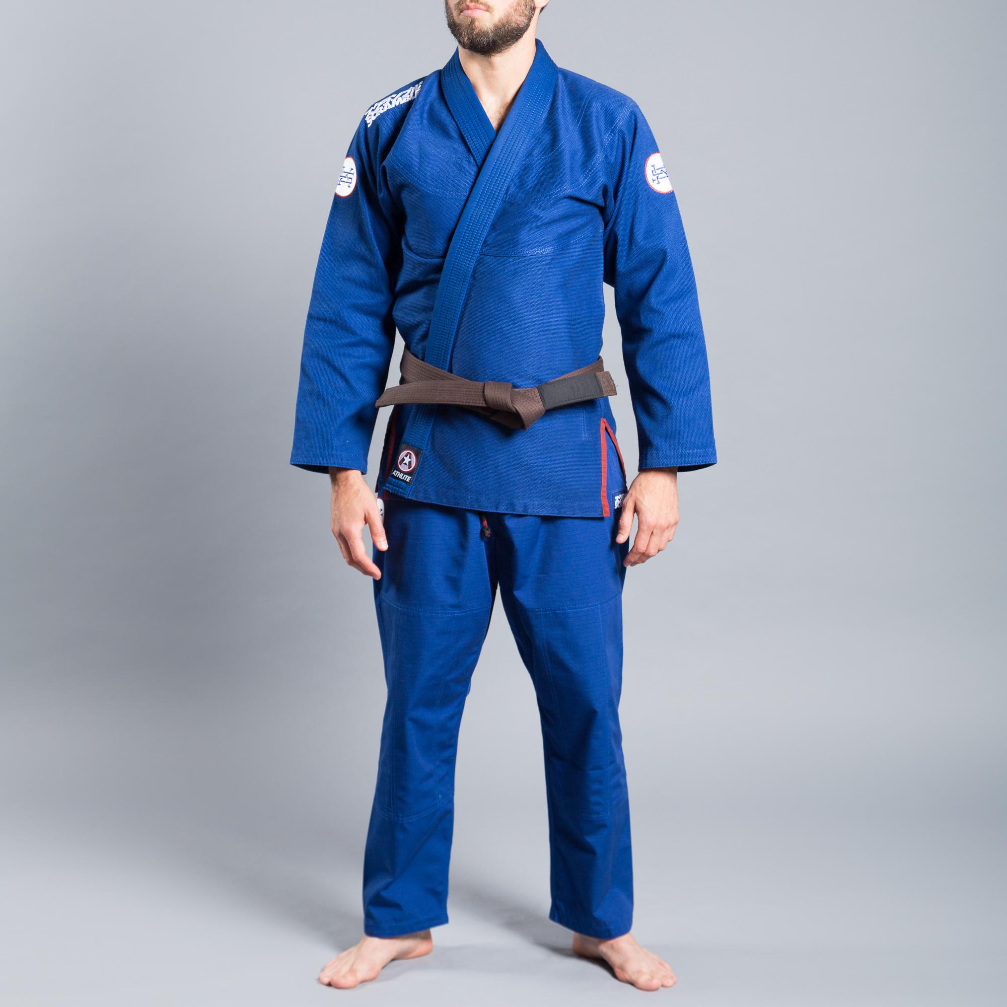 ウルトラライトモデル SCRAMBLE ATHLITE KIMONO ブルー|ブラジリアン柔術衣(柔術着)