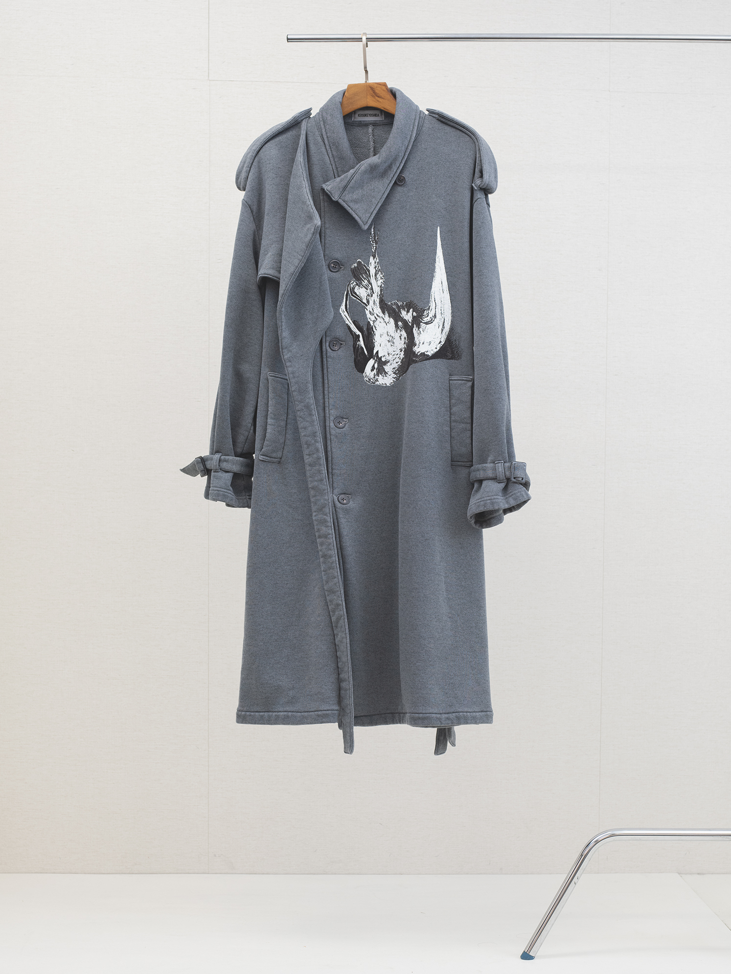 """Belted Trench Coat """"Dead Pigeon"""""""