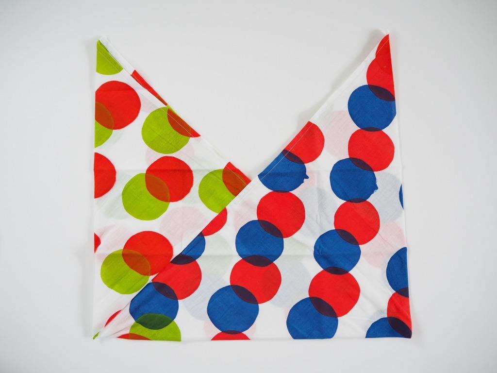 ケイコロール  あずま袋 「赤と青と黄緑の丸」