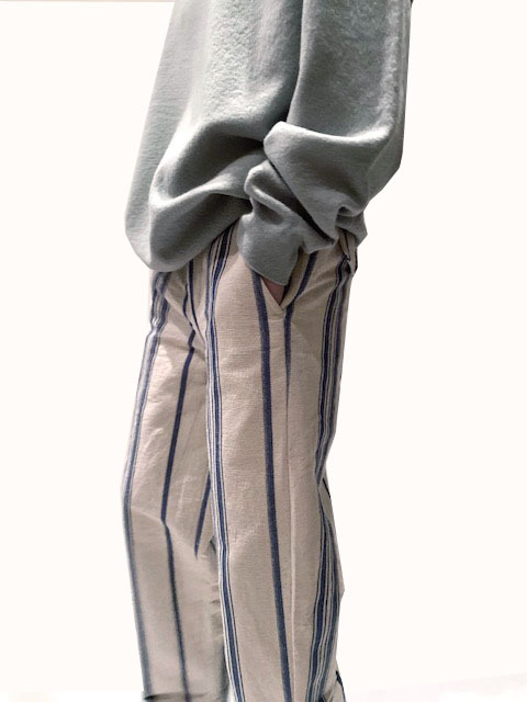 BODE   [BLUE TICKING STRIPE TROUSERS]