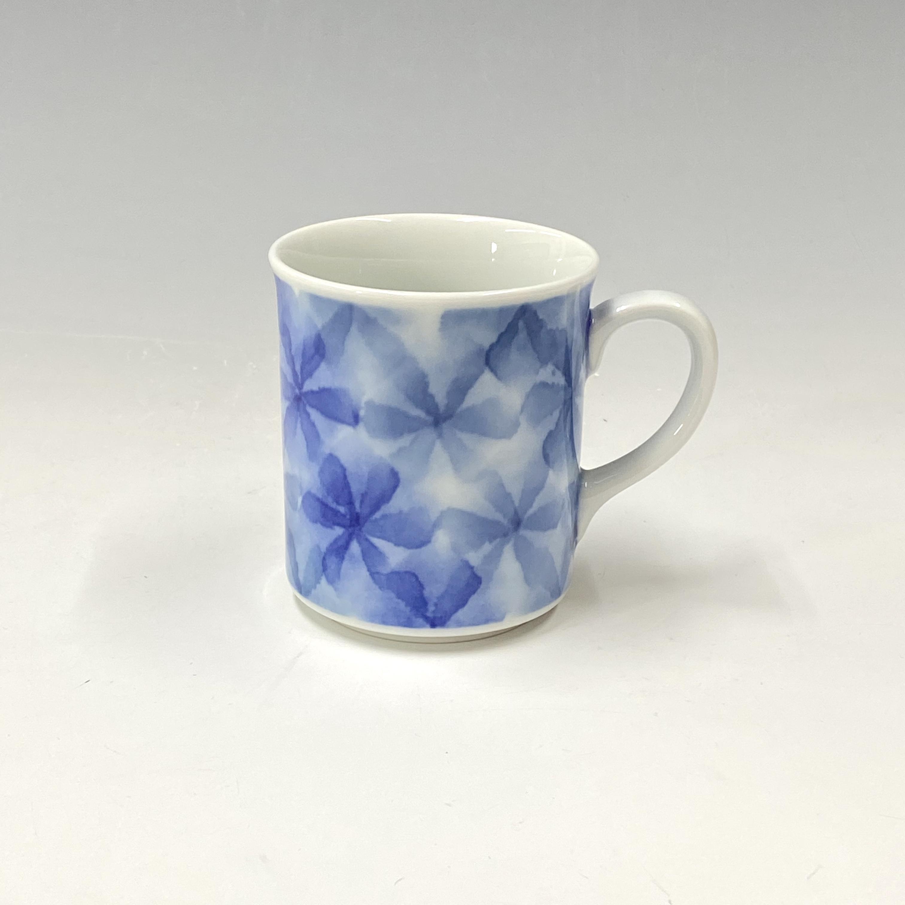【中尾英純】和紙染ちぎり花文マグカップ