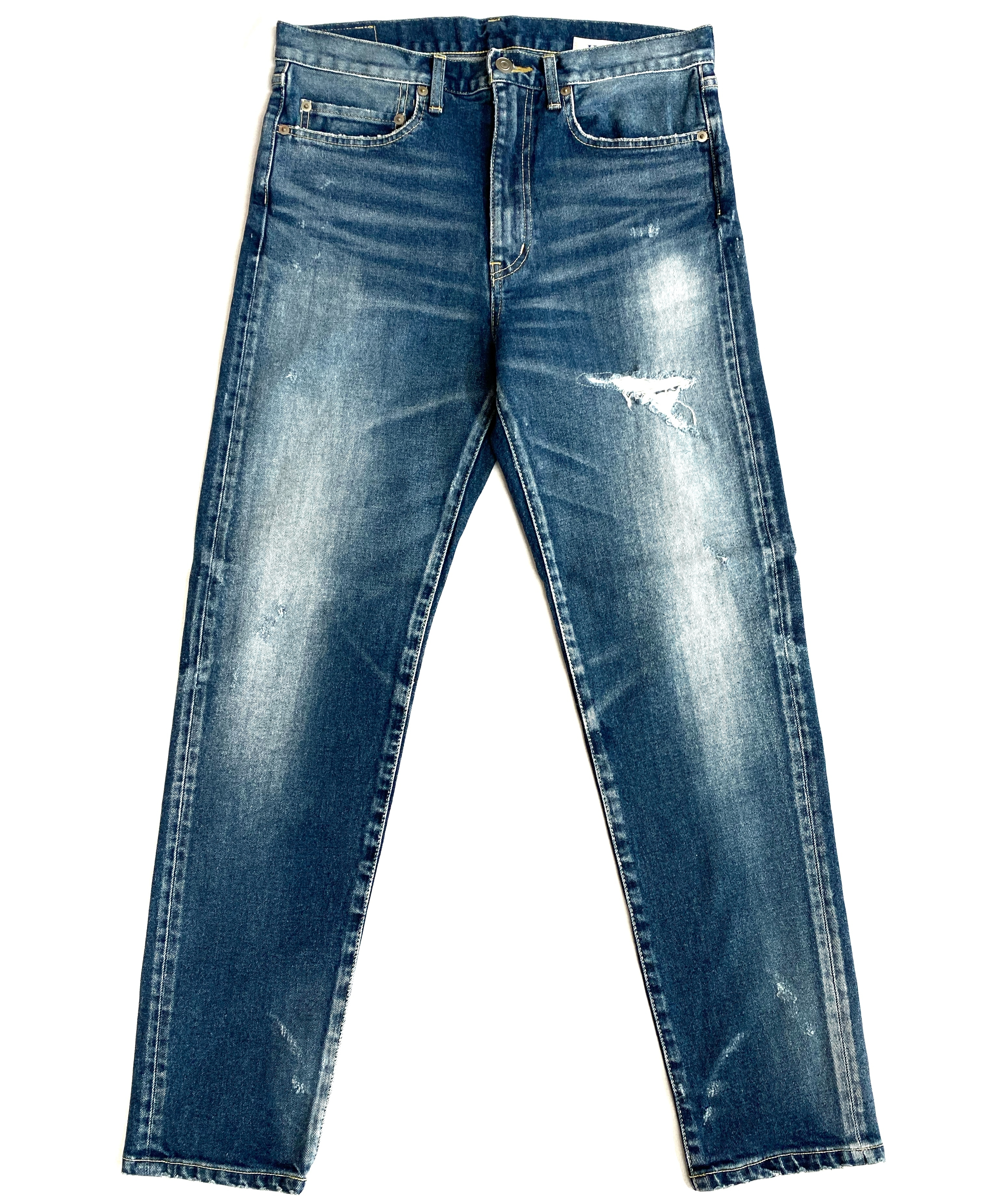 TRIPLE DOUBLE / FITTED INDIGO SLIM TAPERED LEG