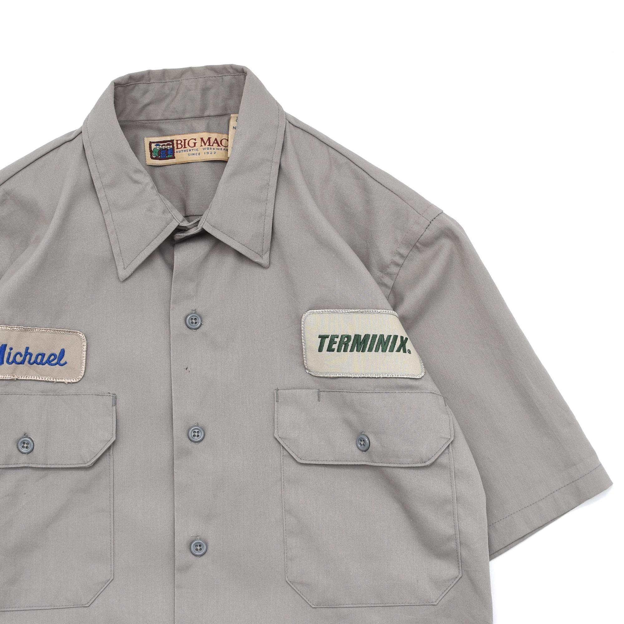 90's BIG MAC twill work shirt Made in USA
