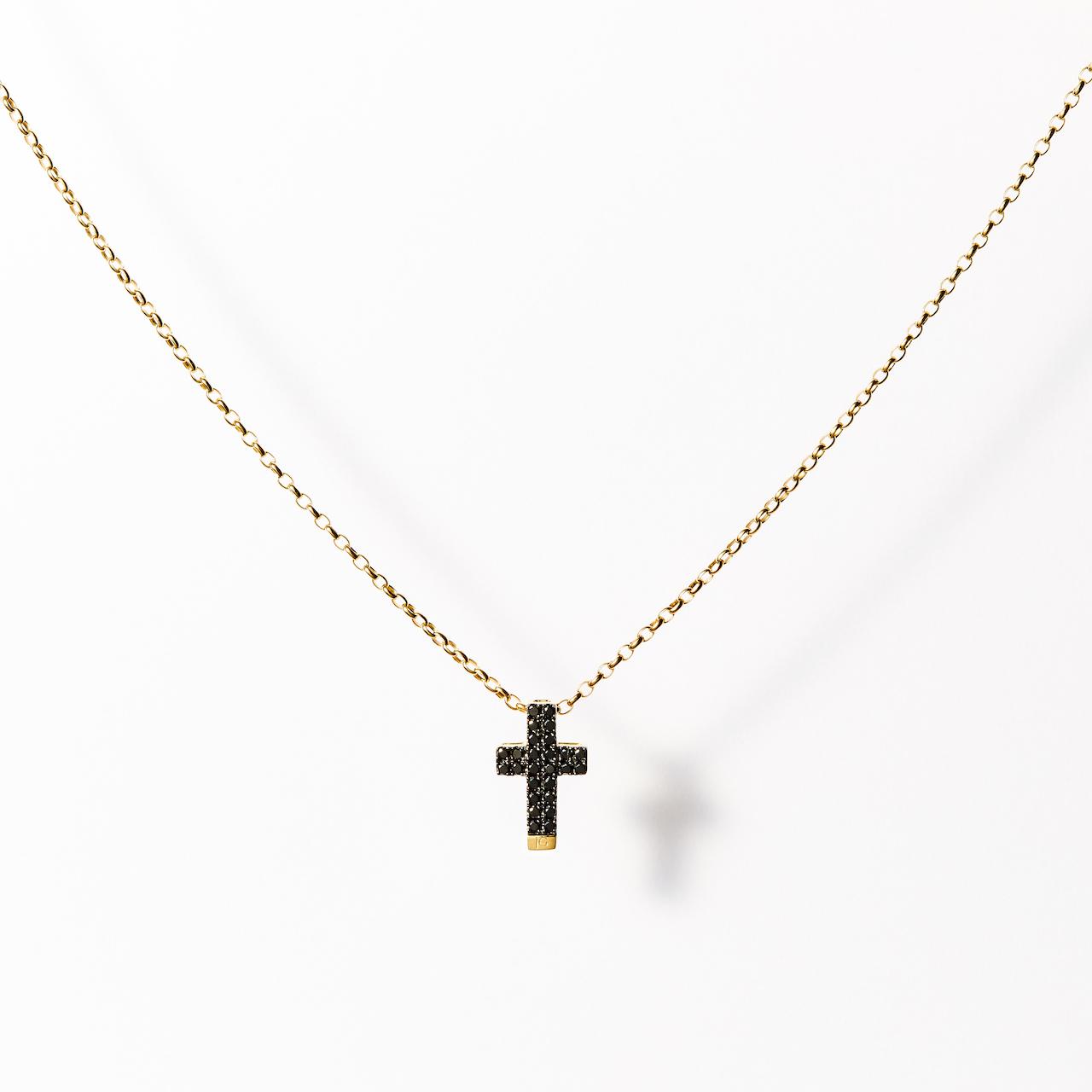 JG <W> ネックレス K9/ブラックダイヤモンド