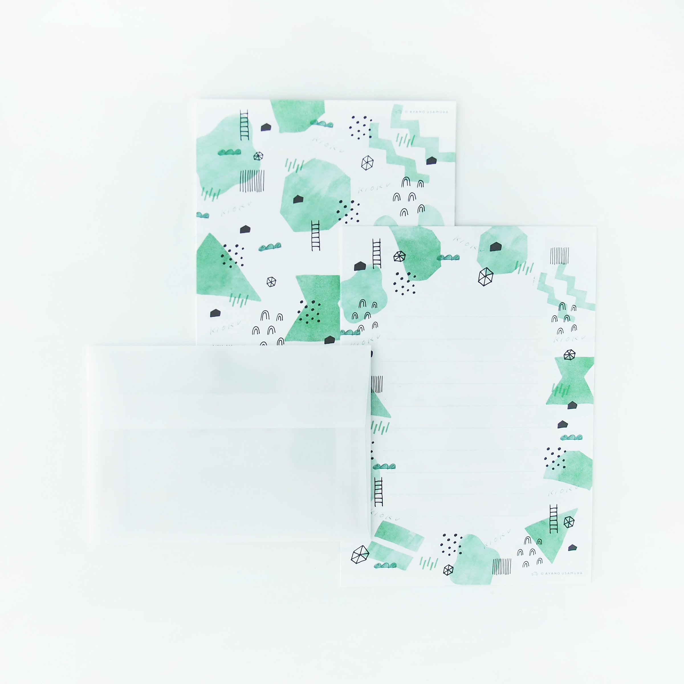LL便箋レターセット|KIOKU(記憶)