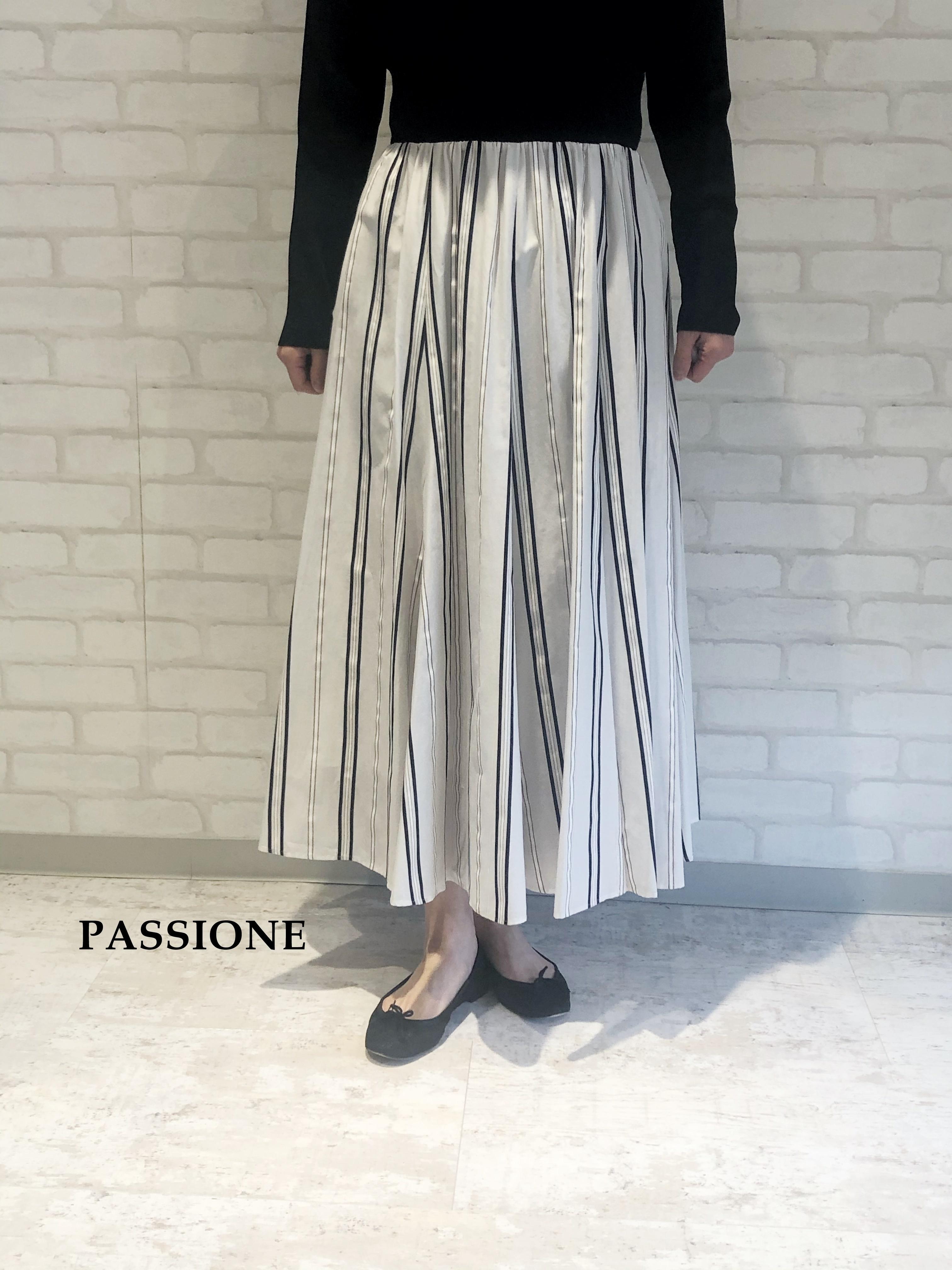PASSIONE/フレアーロングスカート/116637(ホワイト)
