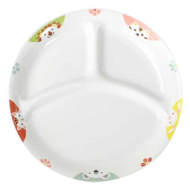 強化磁器 22cm 仕切皿 かくれんぼ【1726-1370】