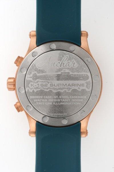 【VOSTOK EUROPE ボストークヨーロッパ】/Anchar Submarine Chronograph Line アンチャールサブマリンクロノグラフ(グリーン×ブロンズ)/正規輸入品