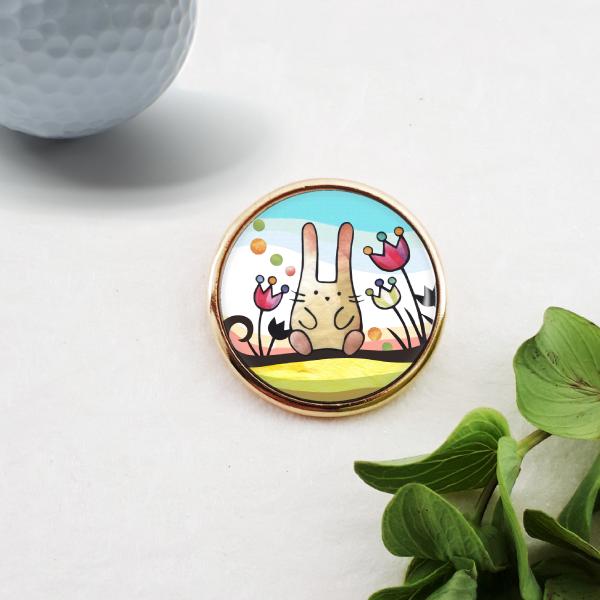 ゴルフマーカー :木登りウサギ