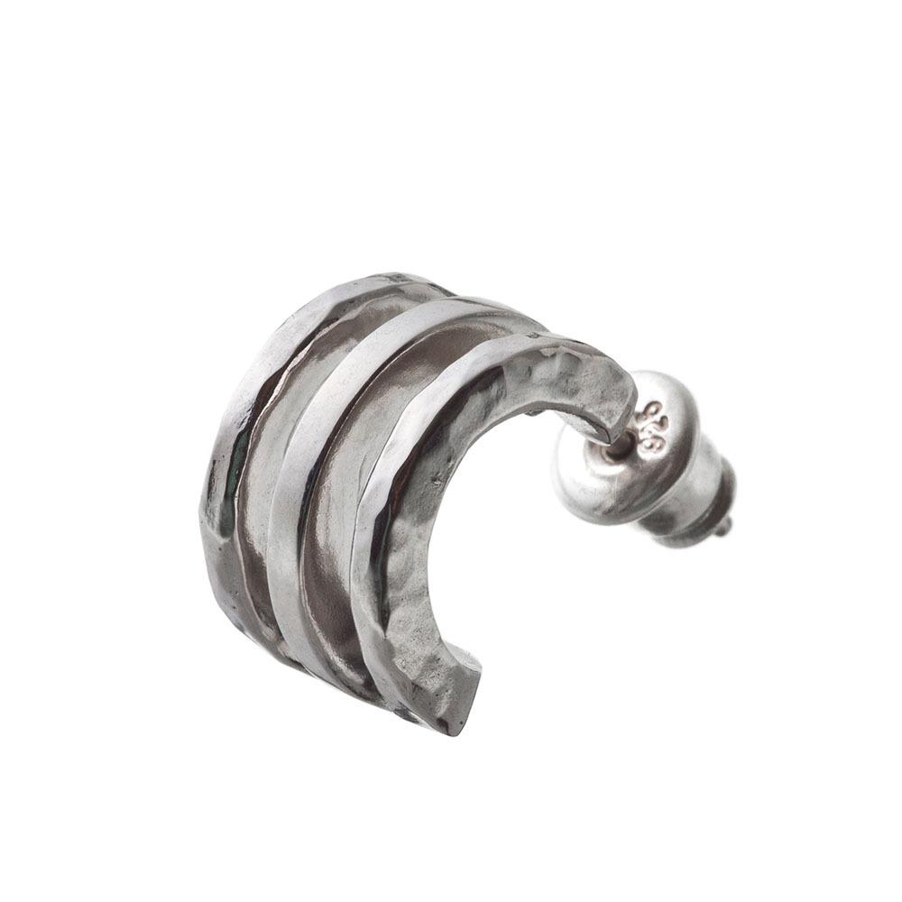 トリプルフープピアス シルバーピアス 片耳分 AKE0085 Triple hoop earrings Silver earrings for one ear