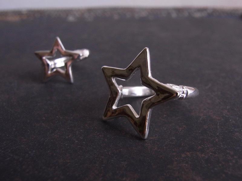 SILVER STAR  Ring/シルバースターリング/L(大きめな星)