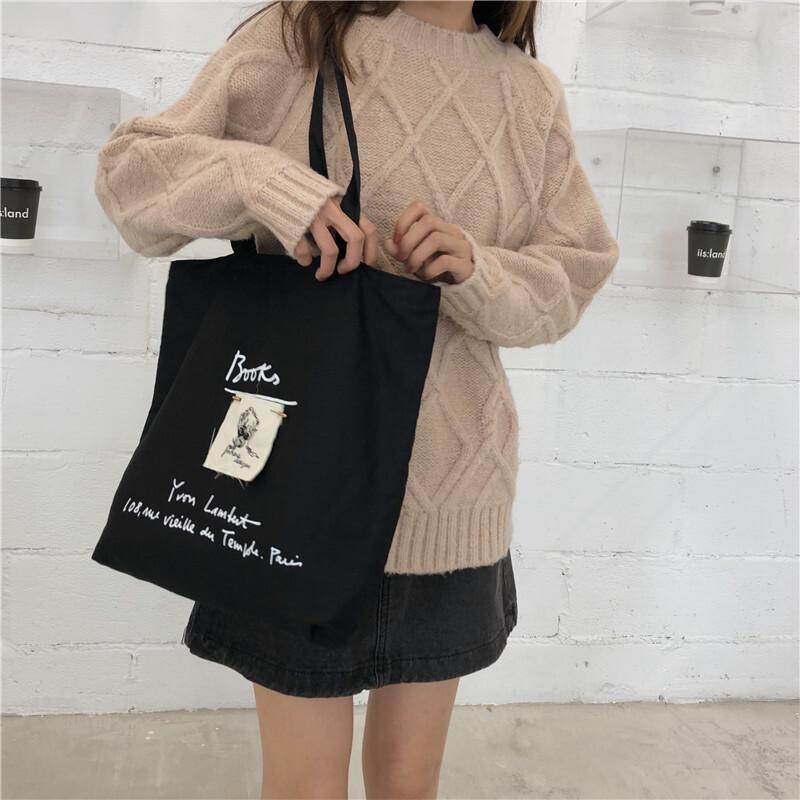 〈カフェシリーズ〉バゲットを入れるキャンバスバッグ【baguette canvas bag】