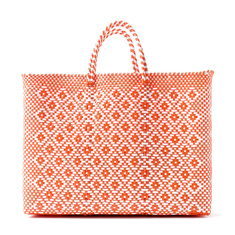 MERCADO BAG ROMBO - White x Orange(L)
