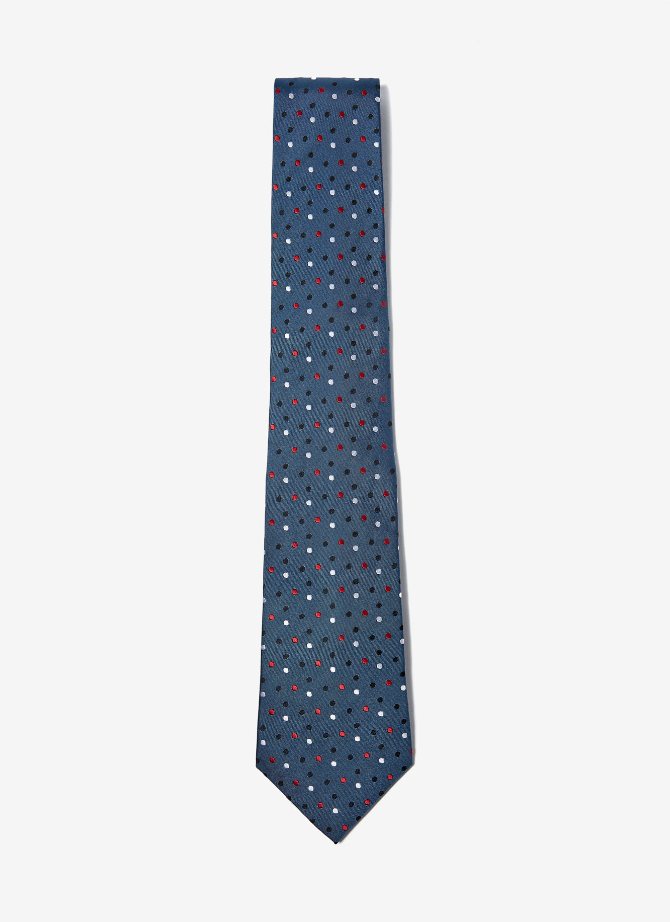 SILK TIE WITH POLKA DOTS