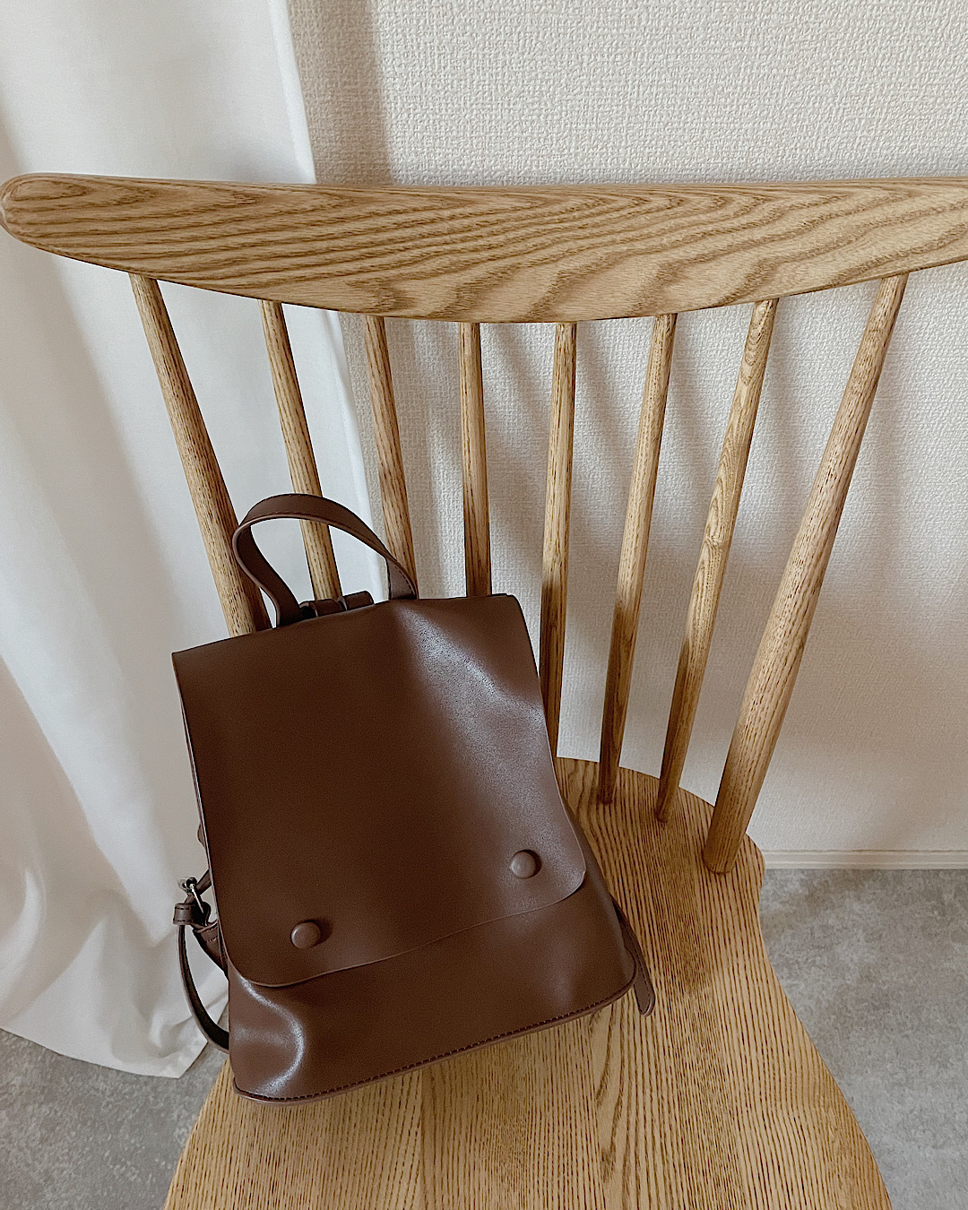 【brown】eco Leather rucksack