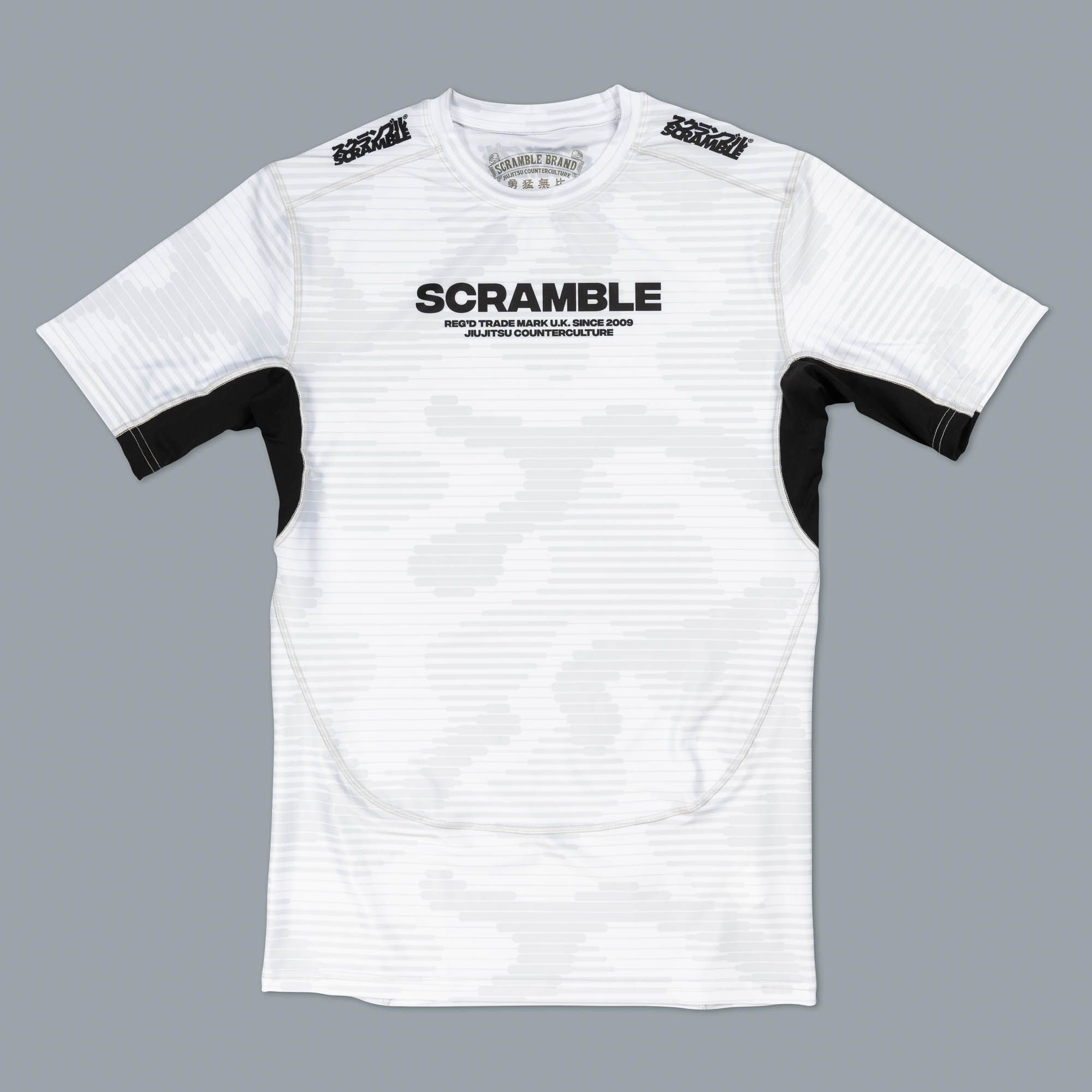 SCRAMBLE TACTIC ラッシュガード ホワイト 半袖