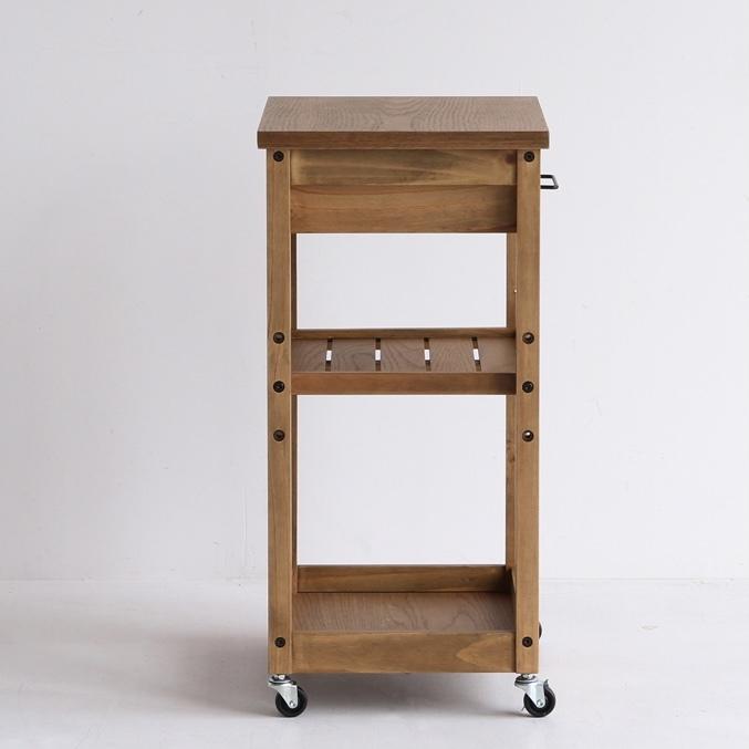 [ Rasic ] Wood  Kitchen Wagon (NA) /ヴィンテージスタイル キッチンワゴン