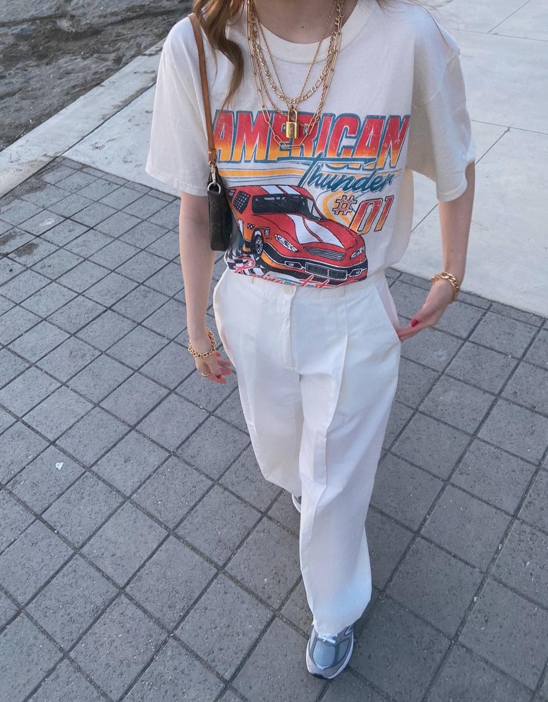 DAYNYC button Chino pants(ivory)
