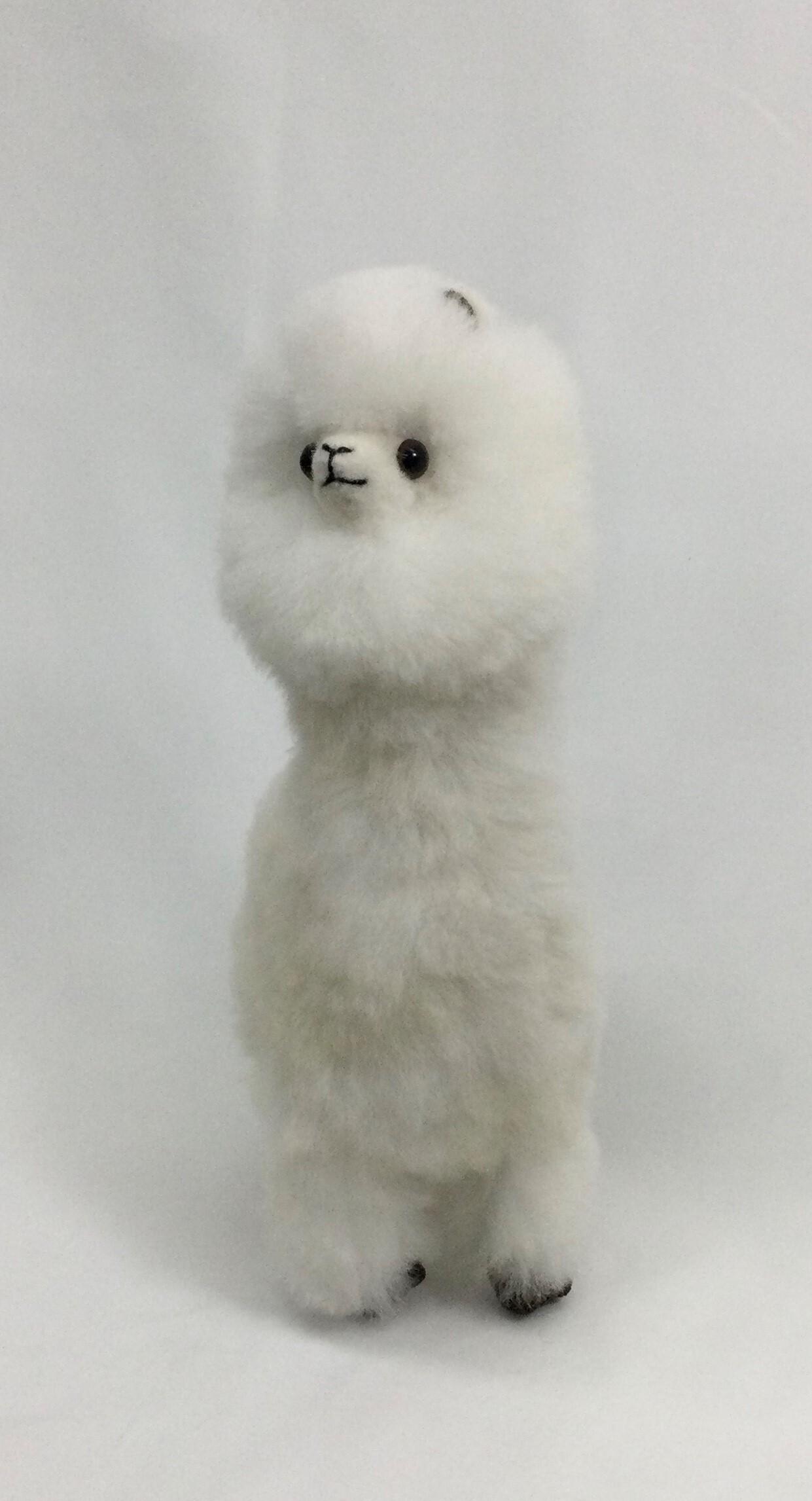首長アルパカ人形 42cm 白
