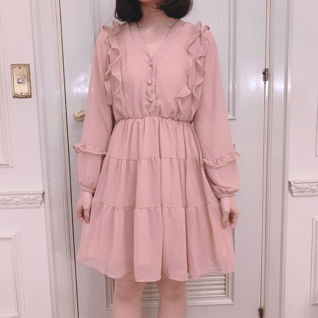 【meltie】frill tiered one-piece