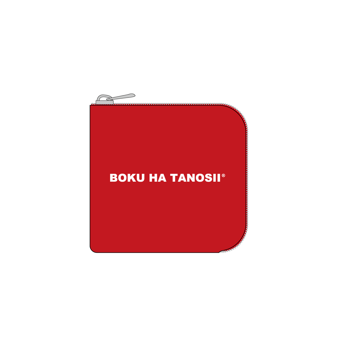 """BOKU HA TANOSII / ボクタノminiウォレット """"RED"""""""