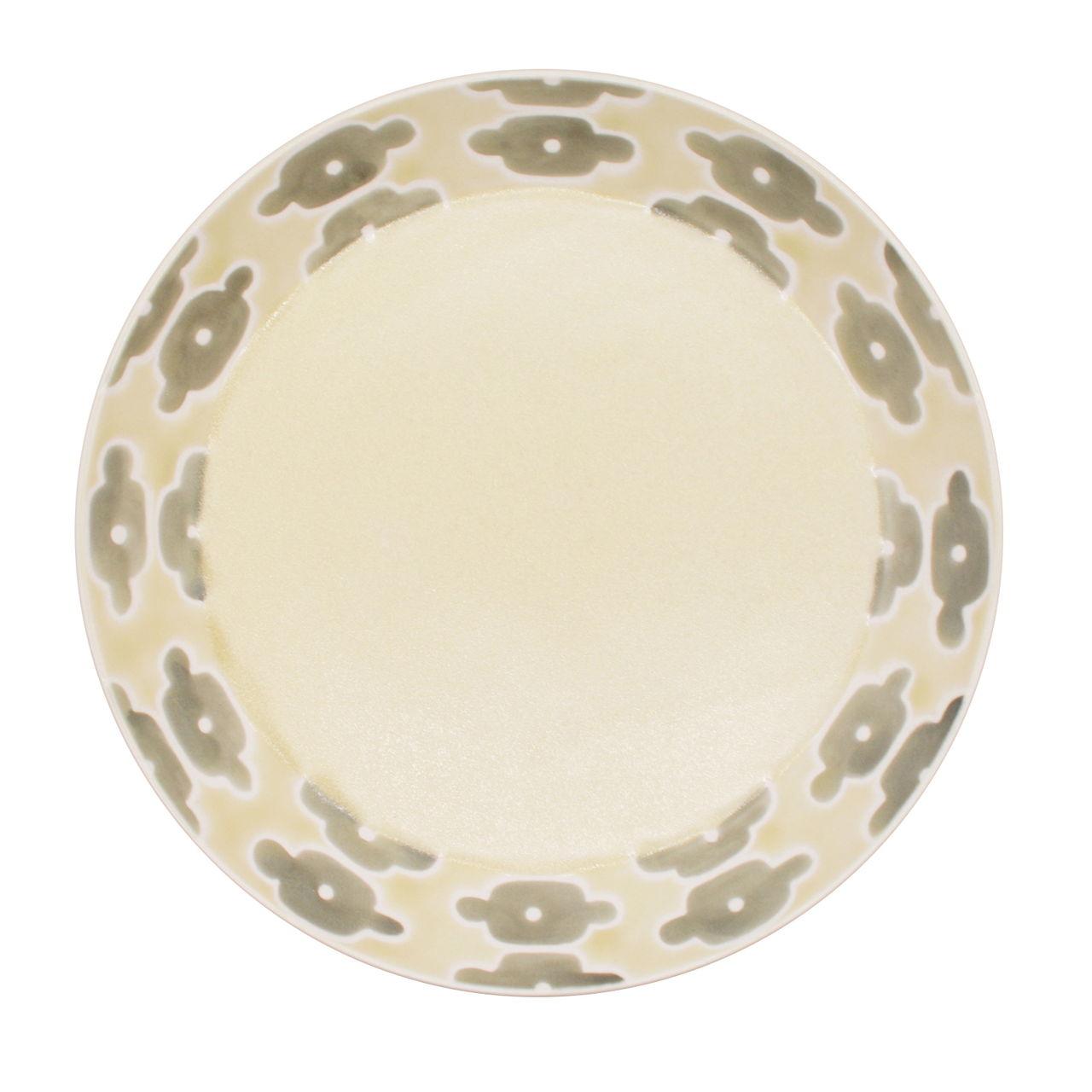 砥部焼 すこし屋 プレート 皿 約22cm グレイフラワー 229014