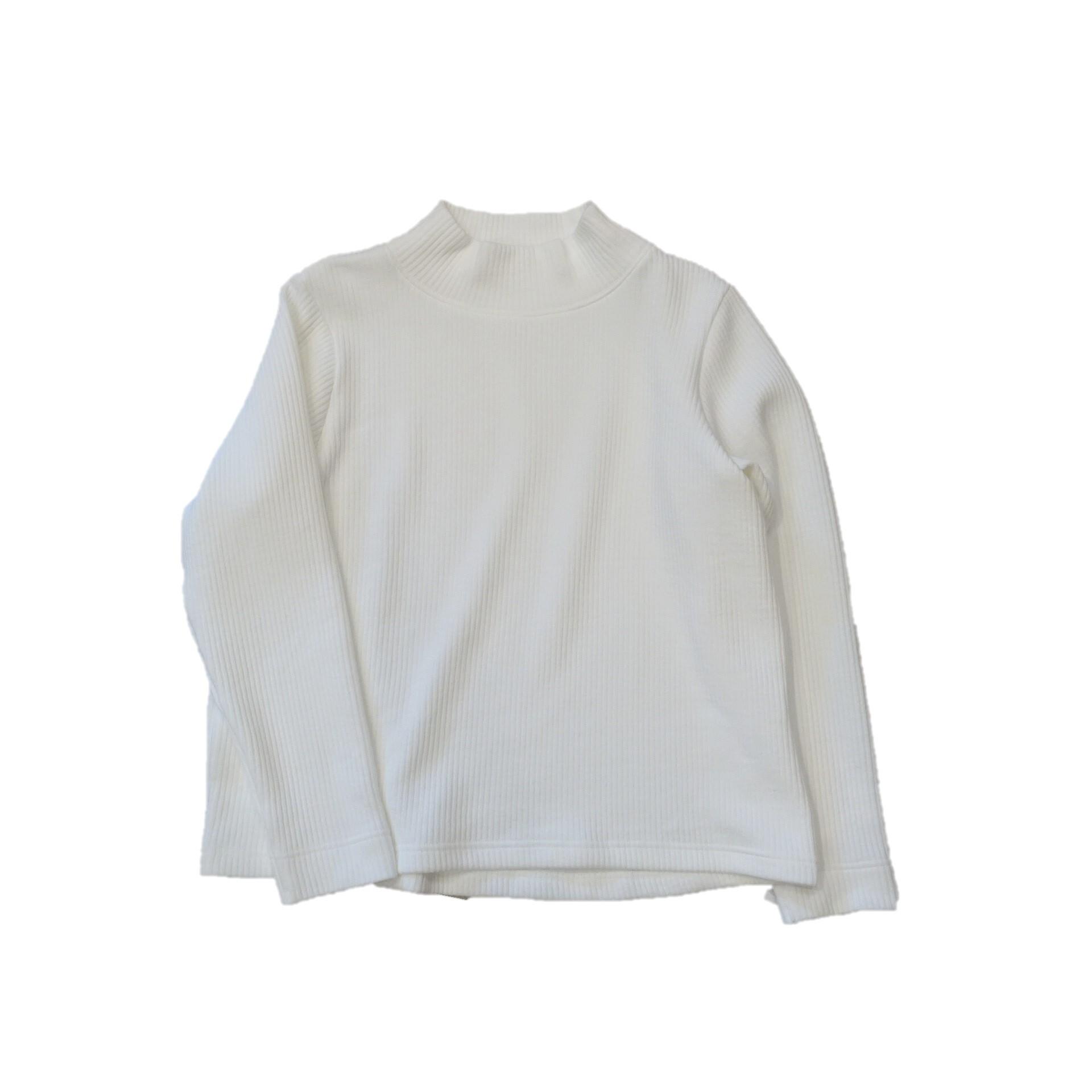 21521  ニットライクリブ/ホワイト