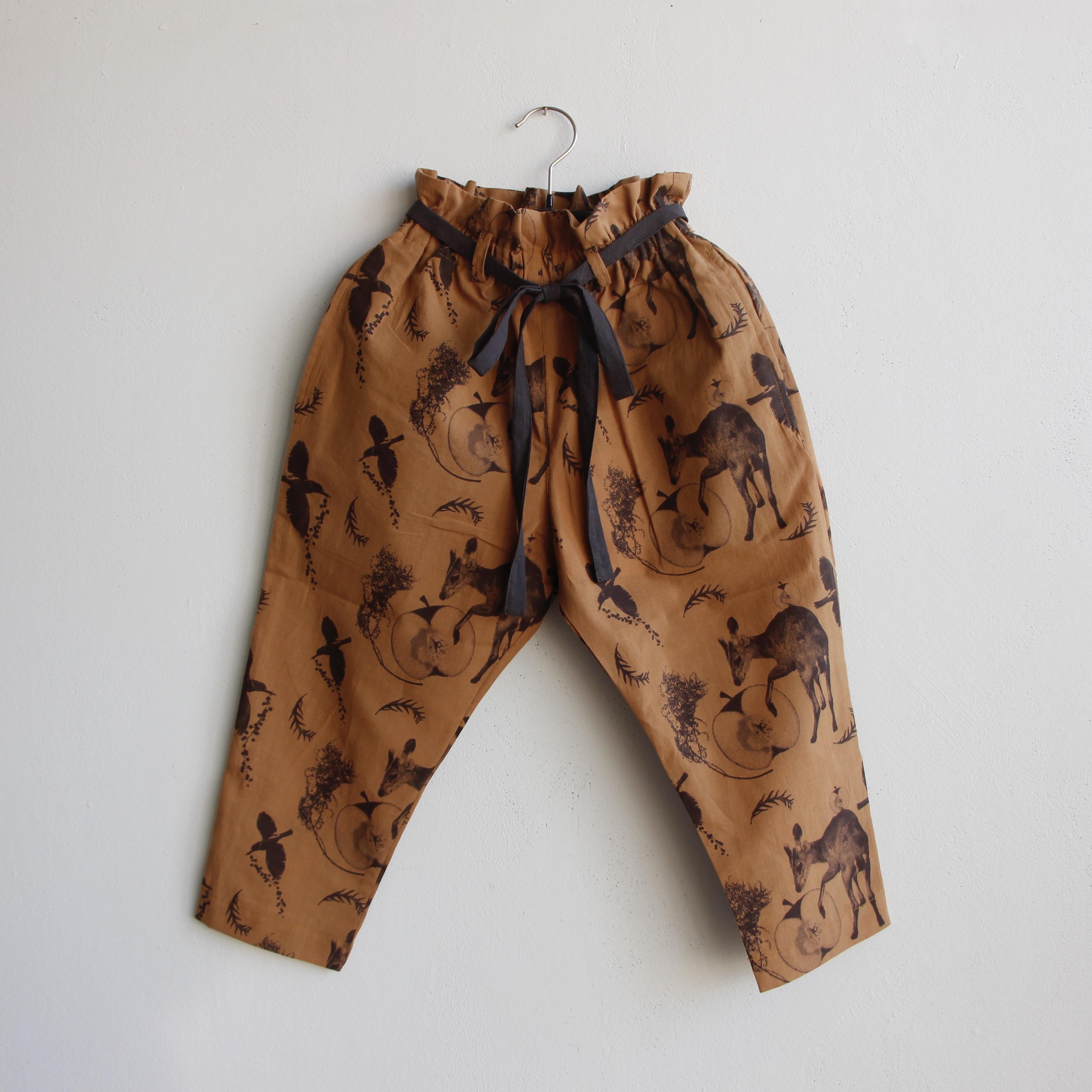 《michirico 2021SS》Flora and fauna pants / camel / L・XL・XXL