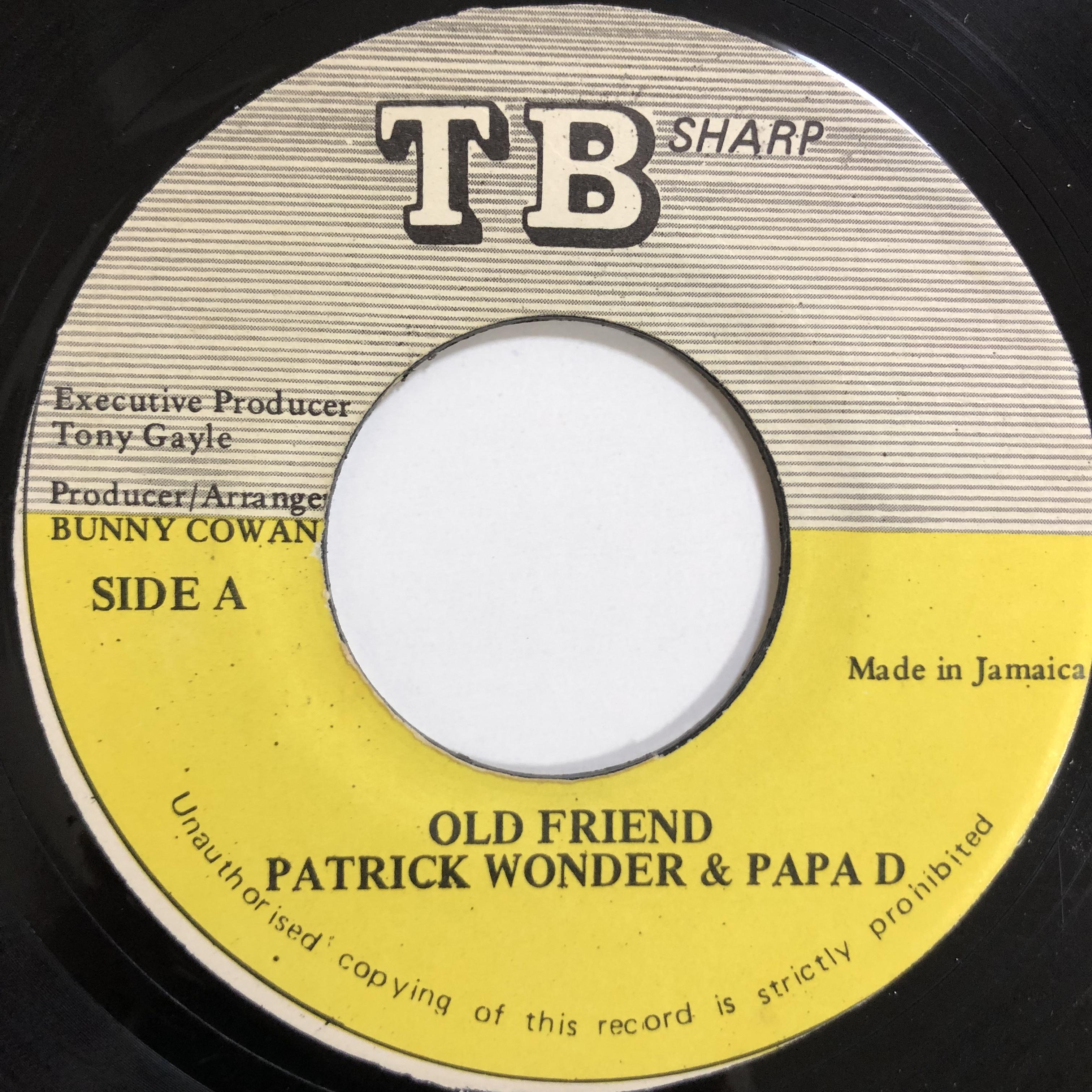 Patrick Wonder , Papa D - Old Friend【7-20079】