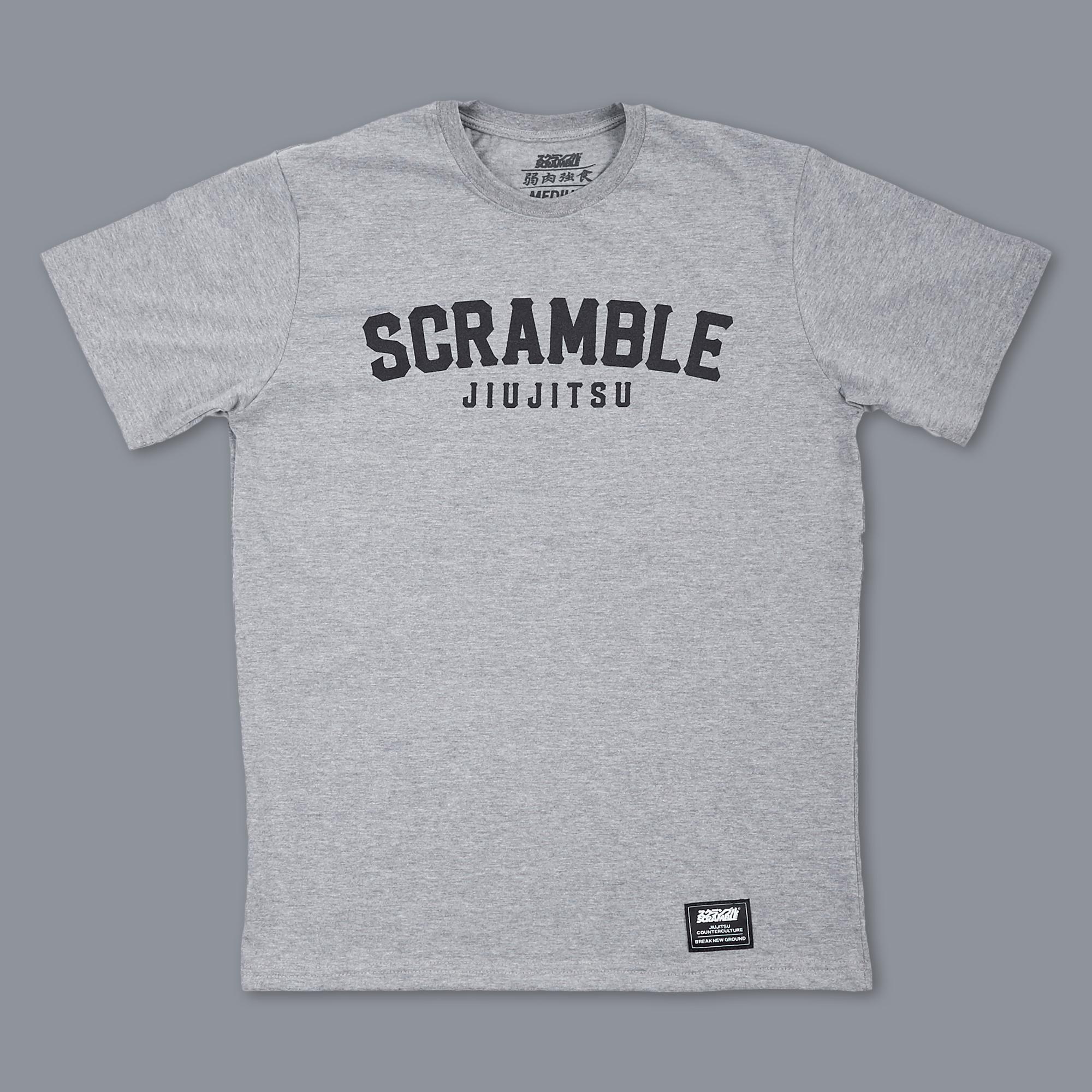 SCRAMBLE NOTHING GAINED EASILY TEE – DARK GREY 格闘技、柔術Tシャツ