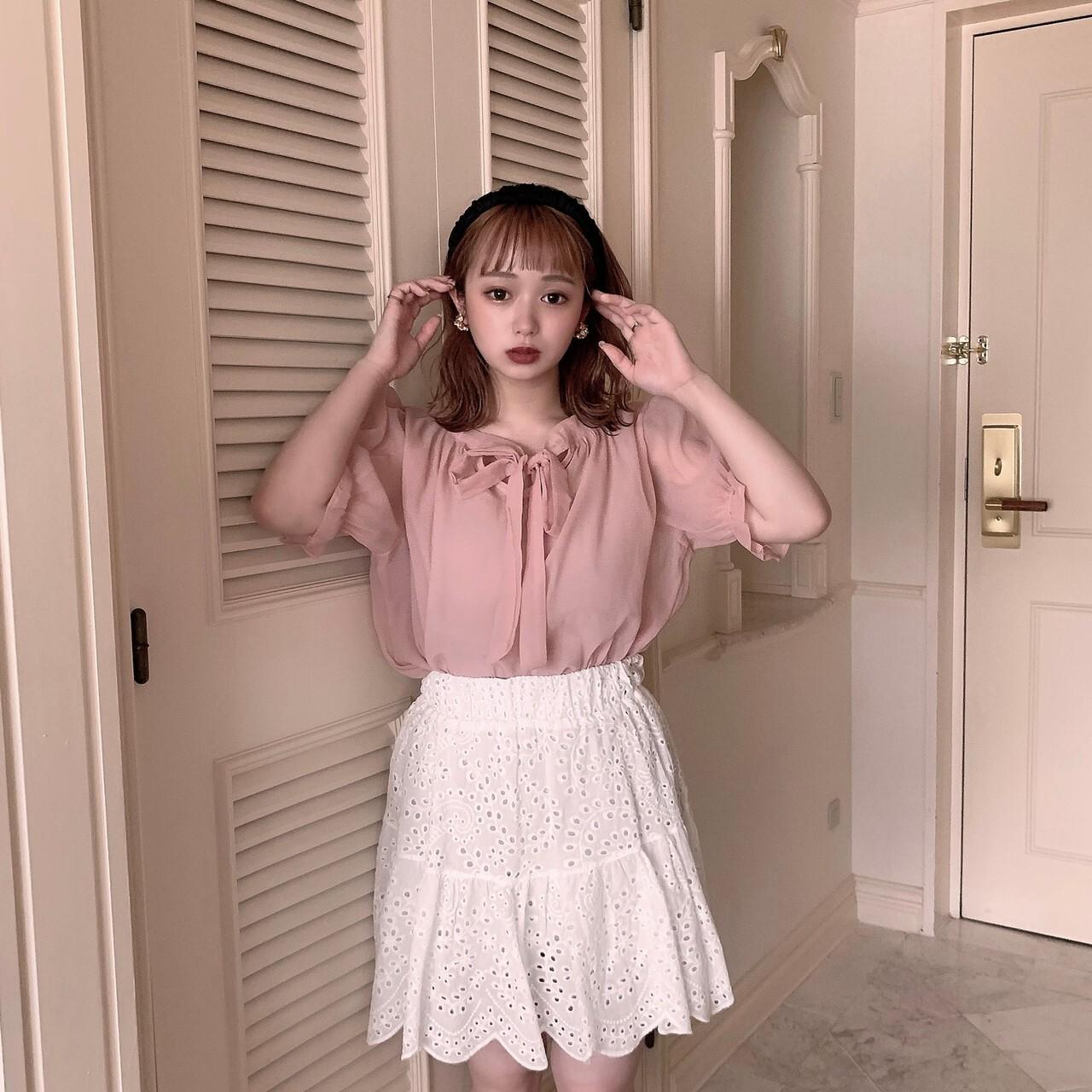 【meltie】cotton lace mini skirt