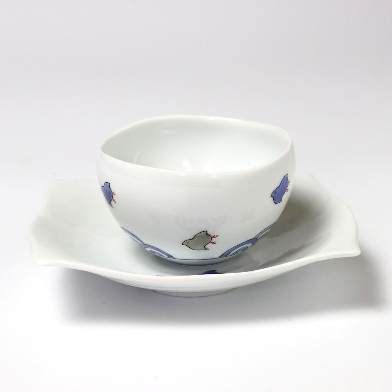 小煎茶セット 波と千鳥