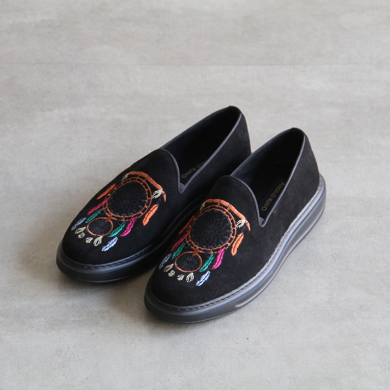 ANGELO RUFFO【 mens 】embroidery loafer