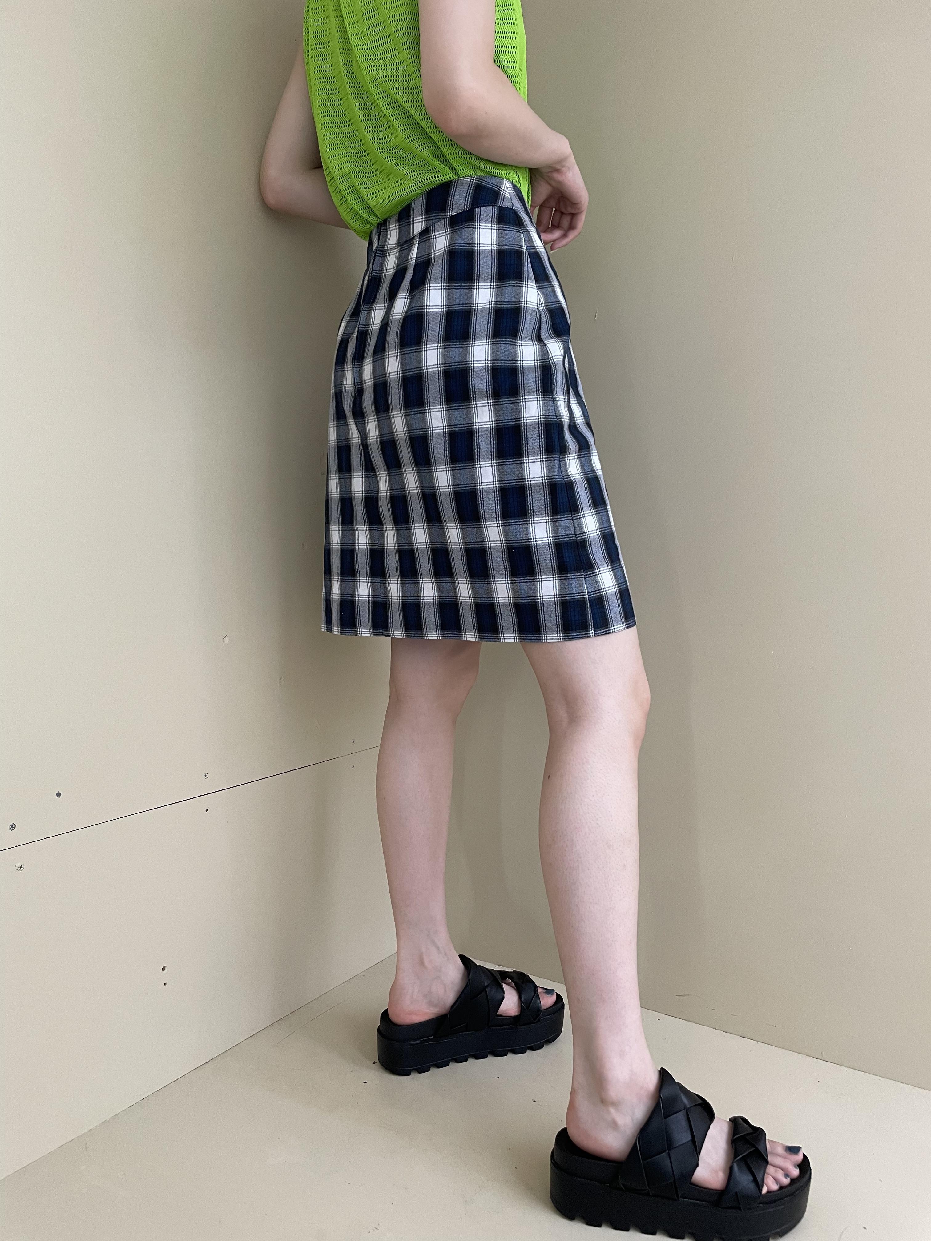 check design skirt / 7SSSK02-20