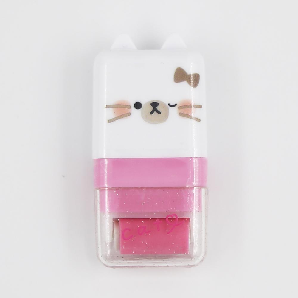猫消しゴム(アニマルローラー消しゴム)ホワイト