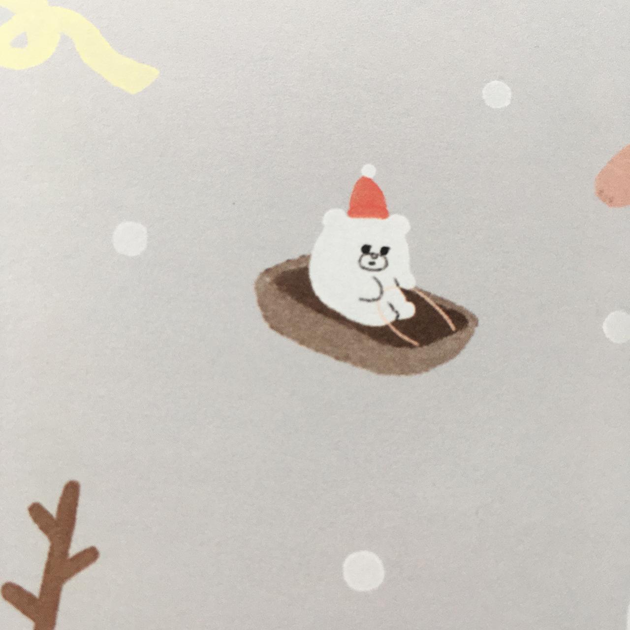 ペーパーバッグ小「冬とくま」