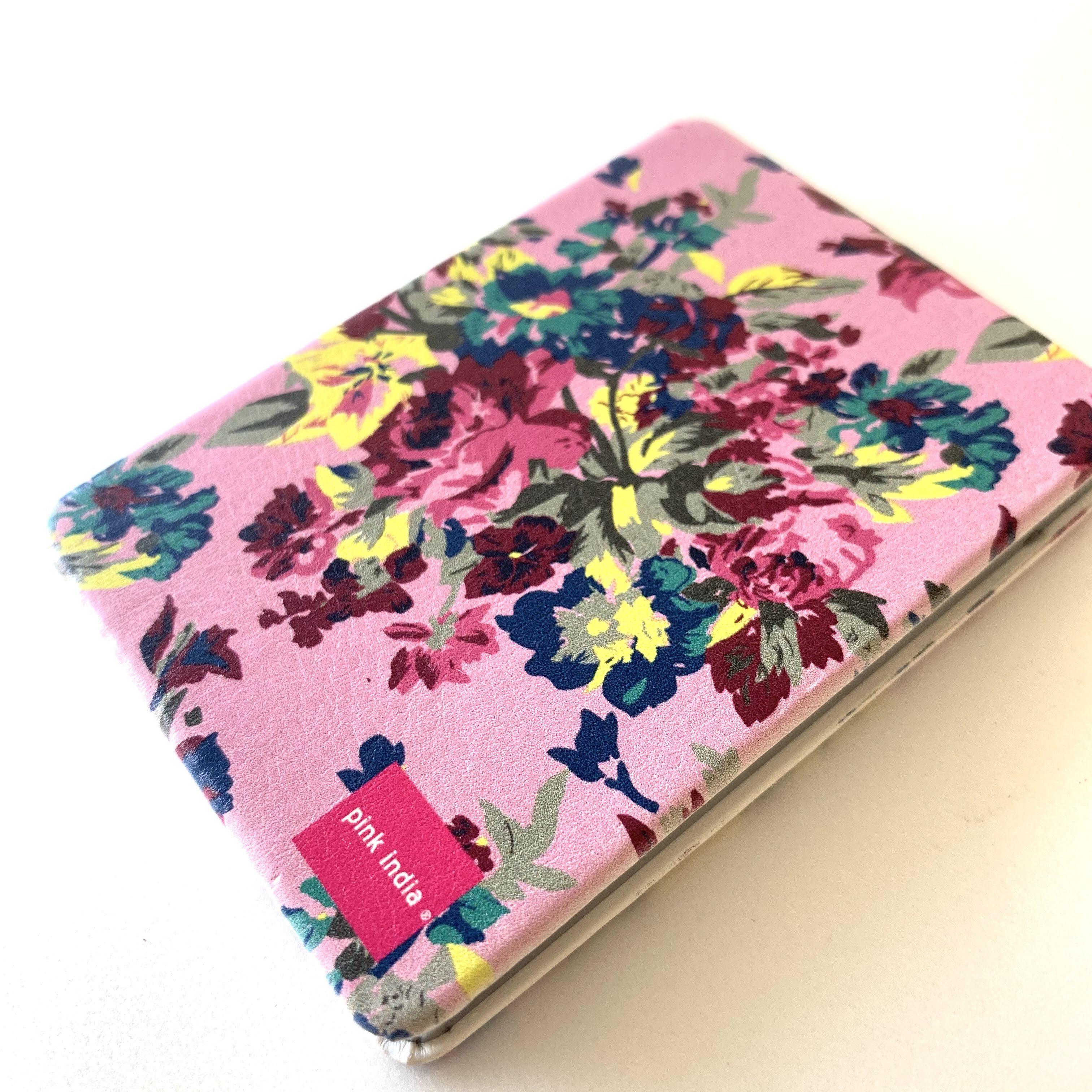 北欧デザイン コンパクト2面ミラー pink flower