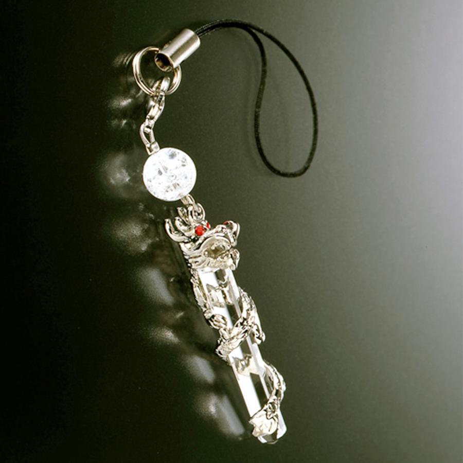 【開運の万能石】天然石 龍神水晶 ブレスレット<風水龍水晶ストラップ付き>(8mm)