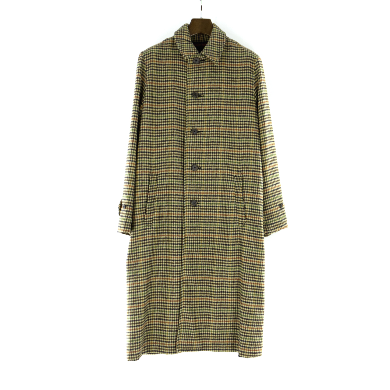 GAIJIN MADE | Gun Club Check Balmacaan Coat - Beige