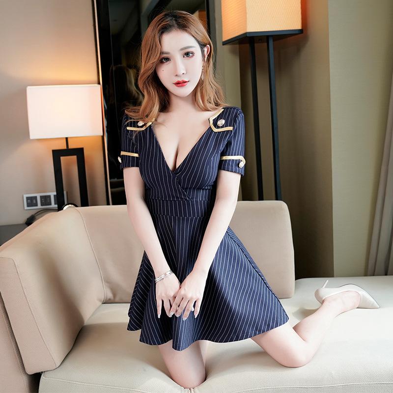 制服 スタイル セクシー 魅了 谷間 ミニドレス キャバドレス MY2047